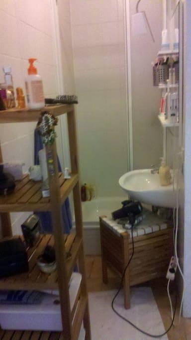 kleines aber feines Bad mit Dusche und seperatem WC