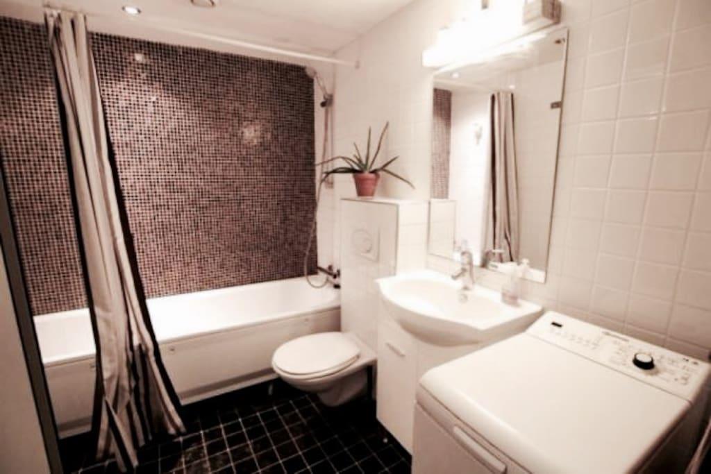 Bathroom with lovely bathtub