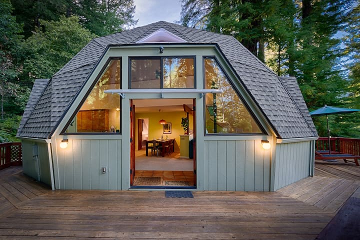 Redwood Dome | Hot Tub, Cozy Vibes, Home Theater