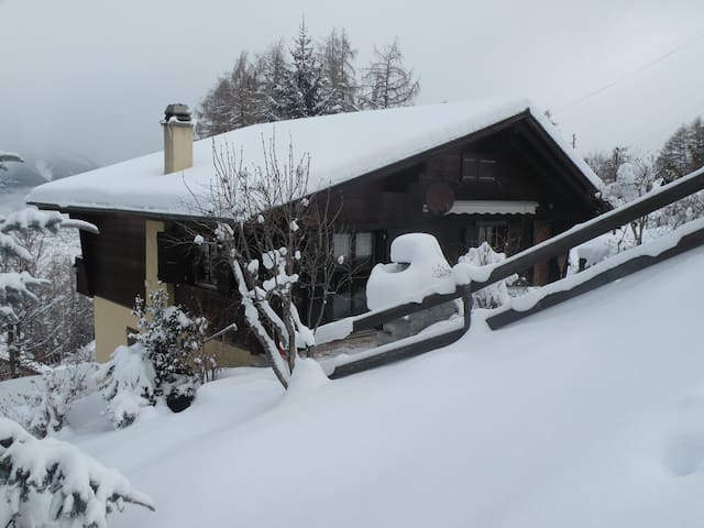 Pleasant chalet in Swiss mountains with great view - Les Agettes - Dom