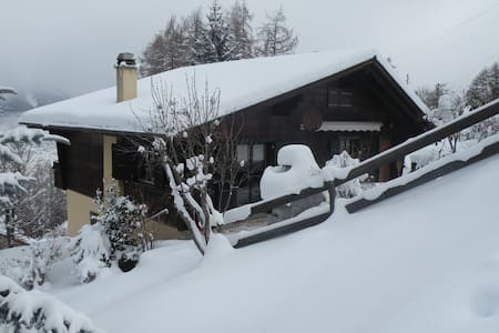 Pleasant chalet in Swiss mountains with great view - Les Agettes