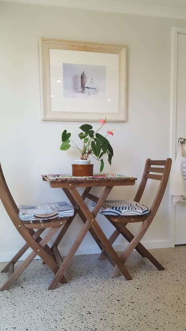 Cosy table for two in the kitchen