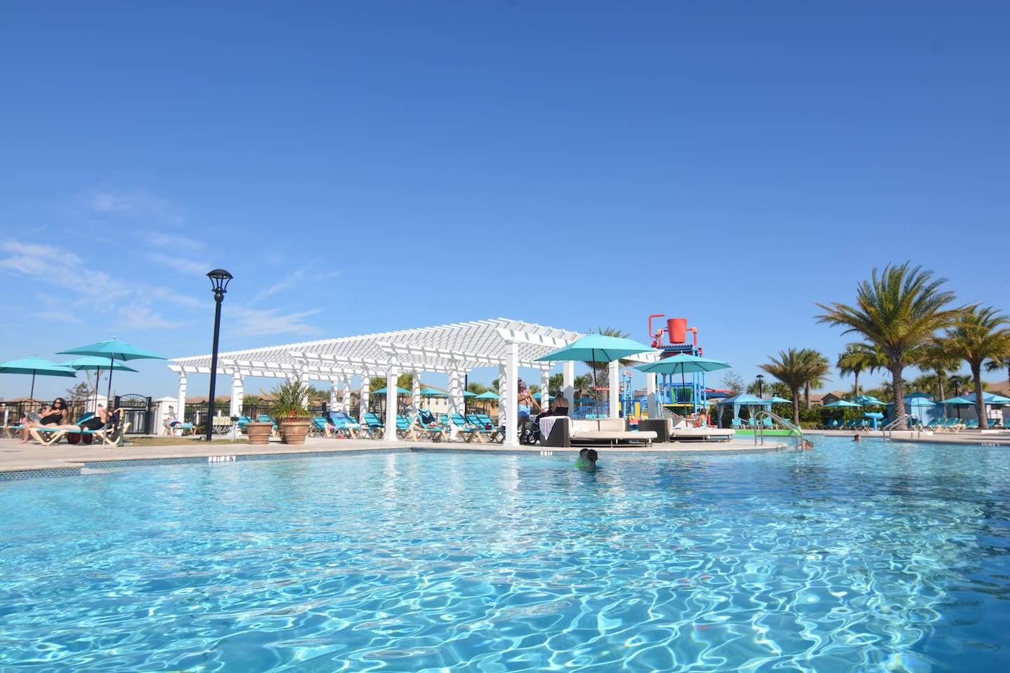 Resort pool and water park
