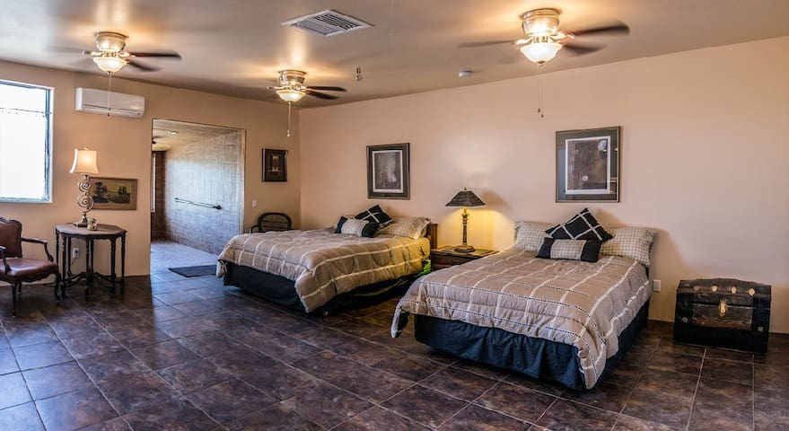 Creosote Room, 20 X 20, ADA Compliant 2 Full Size beds for 2 guests.First night $200,$175 additional nights