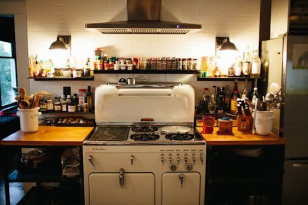 Gourmet Kitchen and vintage stove