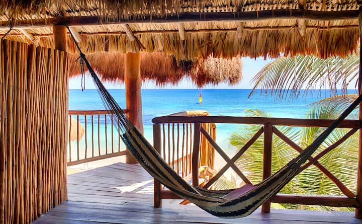 Beachfront Palapa King Room