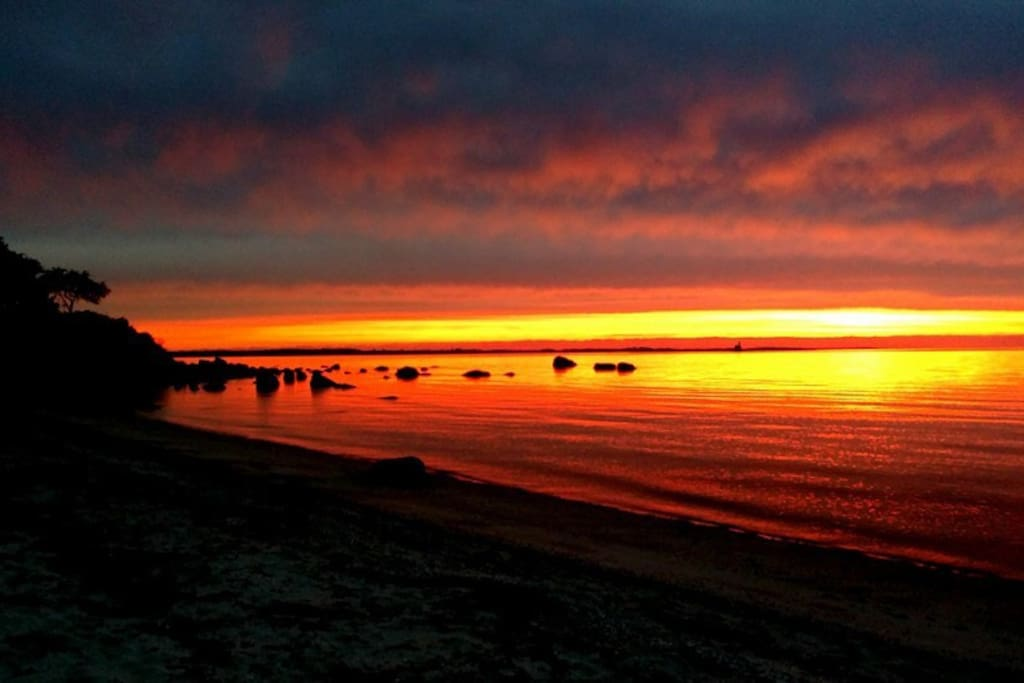 Spectacular sunsets at Crescent beach