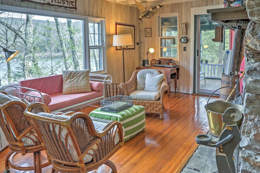 The perfect home-away-from-home, this cottage provides warmth and comfort throughout.