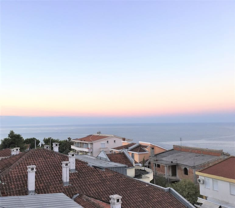 View over the roofs of Ulcinj from apartment terace