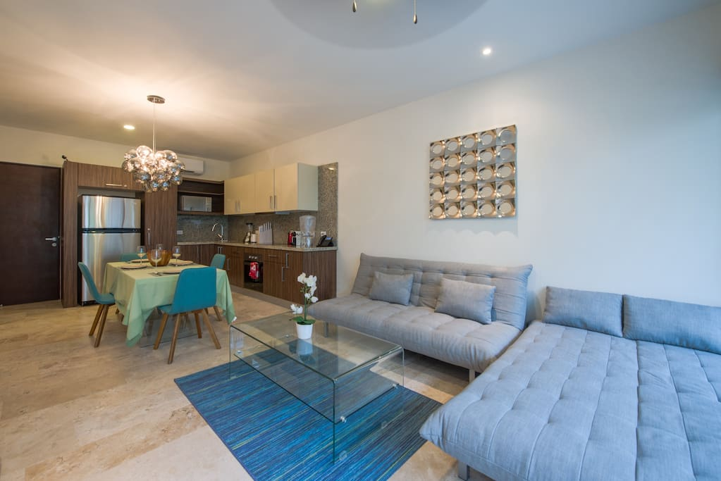 Beautiful 1 bedroom apartment with fully equipped kitchen