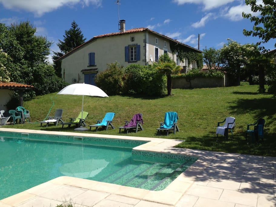 Swimming pool at Chez Sarrazin