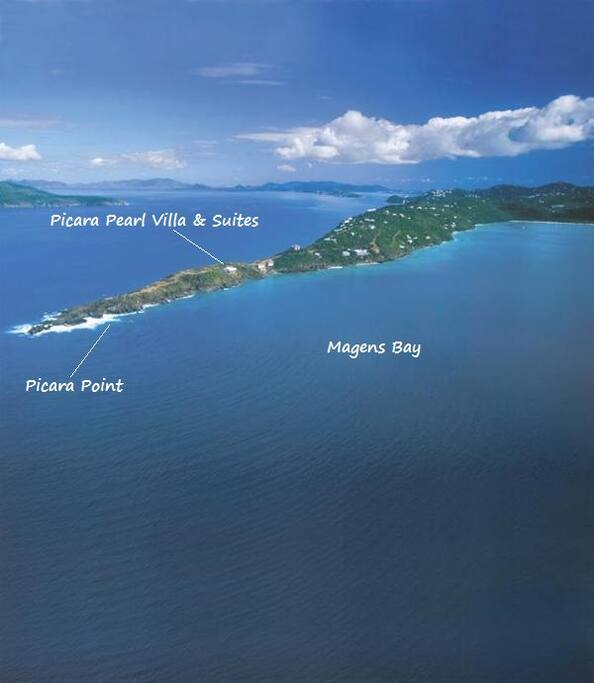 Picara Point - Villa closest to this Point for your privacy and gorgeous views!