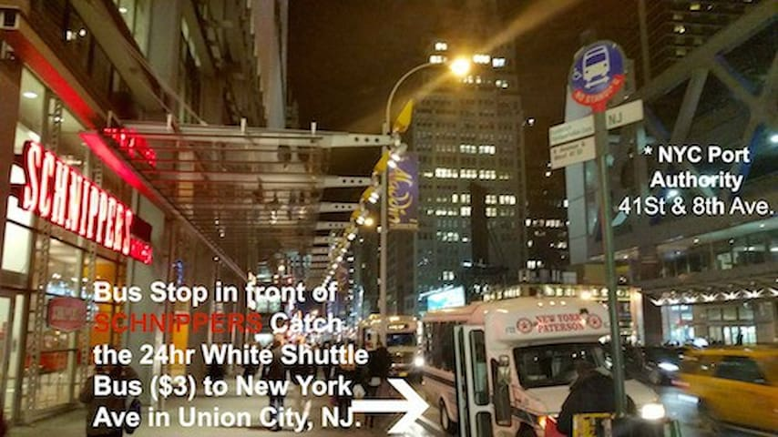 ***EASIEST & STRAIGHT FORWARD WAY TO MY HOUSE FROM NYC***  Another view, Directions from NYC to my home.  In front of The MICROSOFT BUILDING & BANK OF AMERICA.
