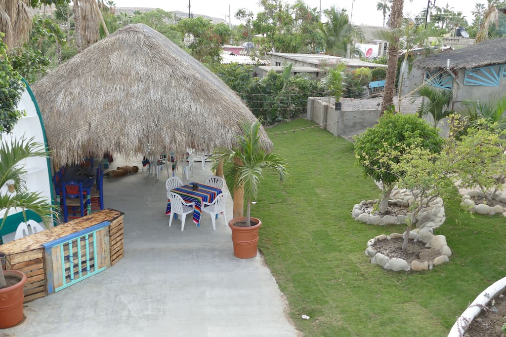 Giant palapa with yard to hang out, eat, socialize and relax