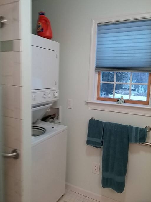 Bathroom includes private washer and dryer