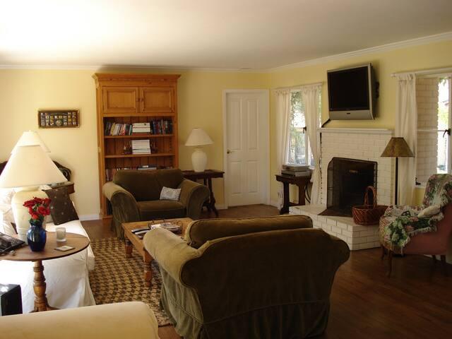 Living room, door in the background leads to Master bedroom