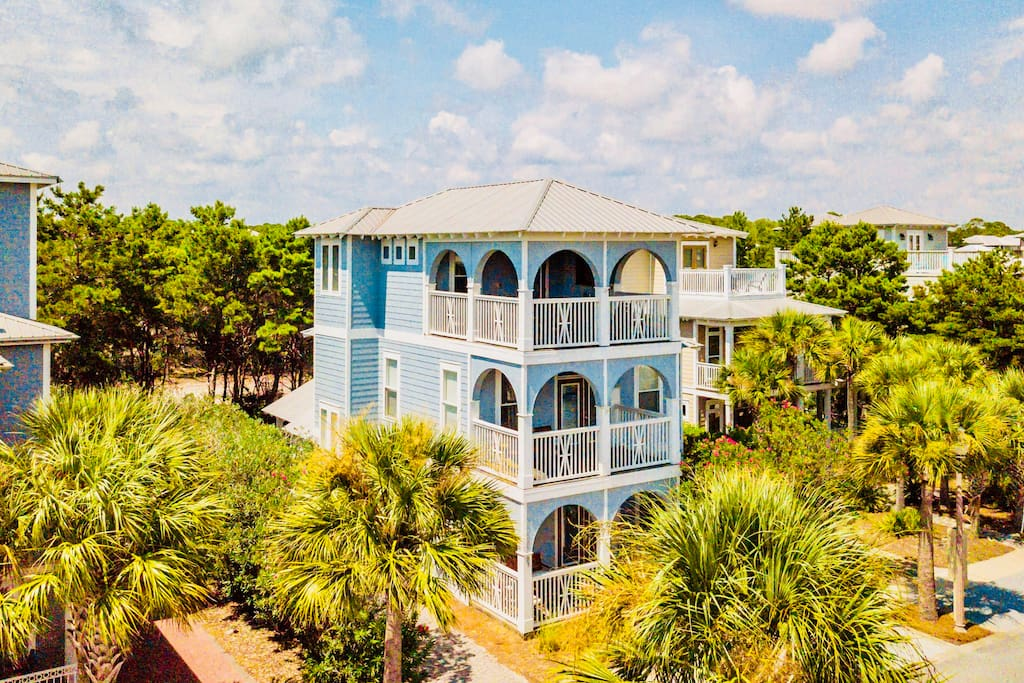 Beautiful three story luxury home in the heart of Seacrest, Rosemary, and Alys Beach