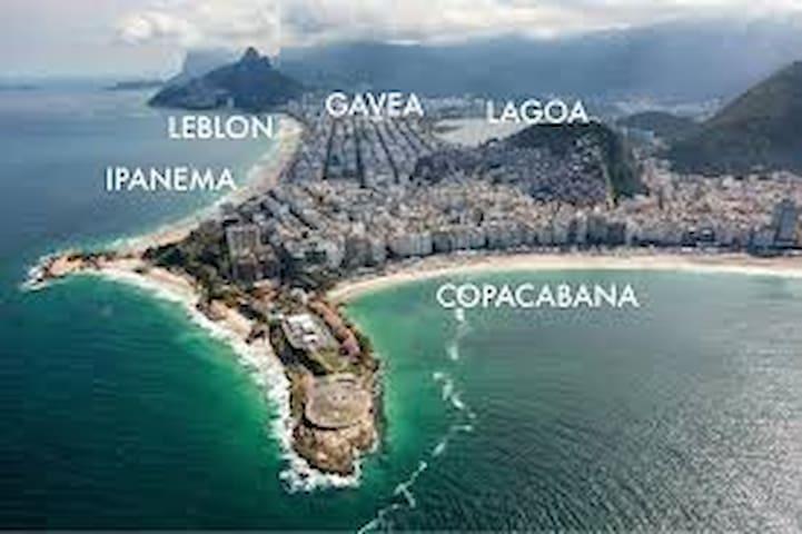 Ipanema's location. Localização de Ipanema no Rio de Janeiro