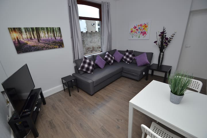 Cosy 2 bed apartment near to UHW in quiet street