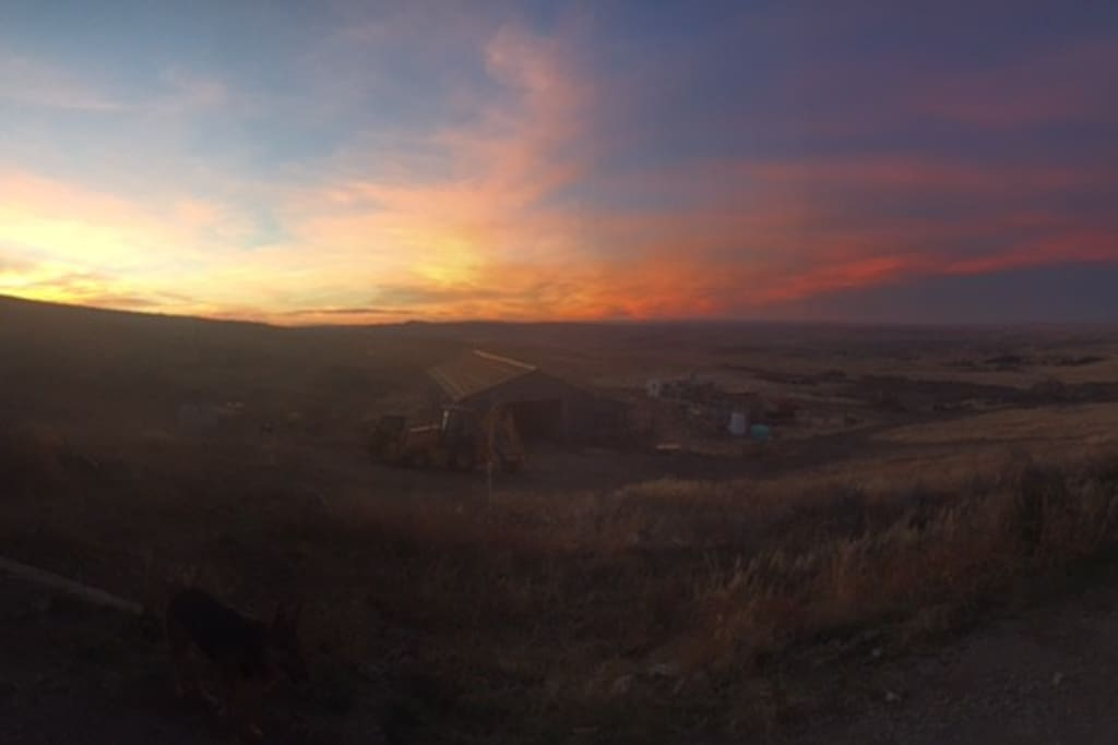Example of a Wyoming Cotton Candy sunset off our deck