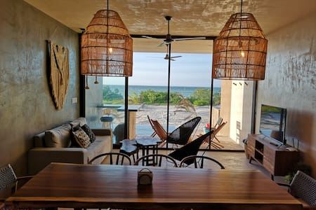 """Tulum Styled"" Villa with beach front San Bruno"