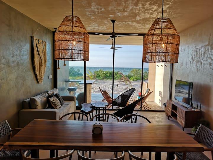 """Tulum Styled"" Villa with beach front San Bruno"