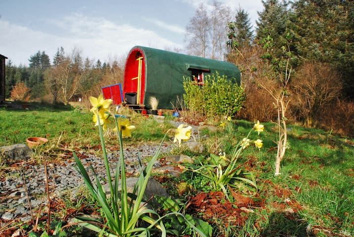 Additionally you can book the Gypsy Wagon which sleeps up to 2 adults and 2 children.