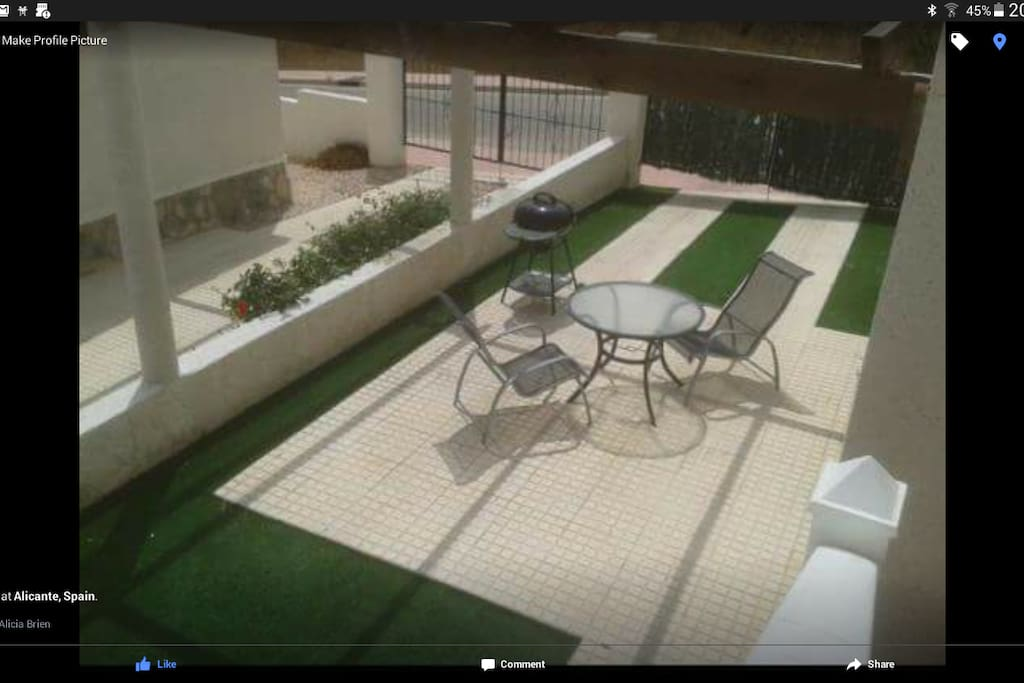 Garden for dining (Artificial Grass)