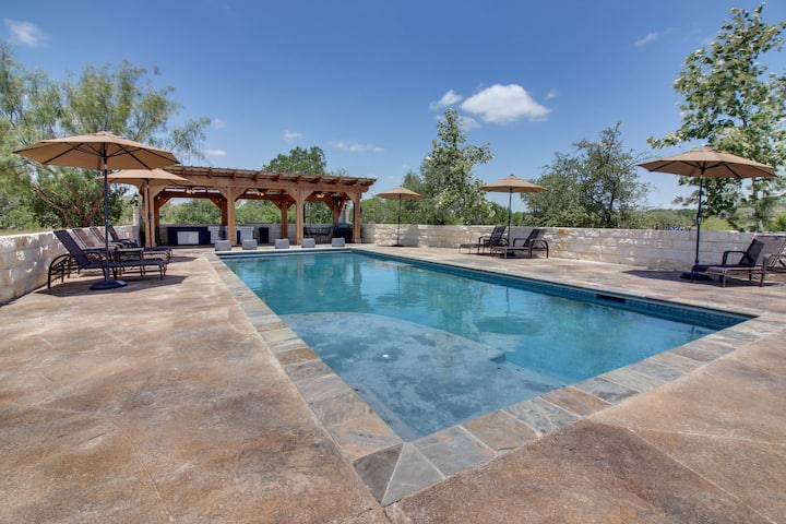 Dog-friendly riverfront home w/ private pool, gourmet amenities plus guest house