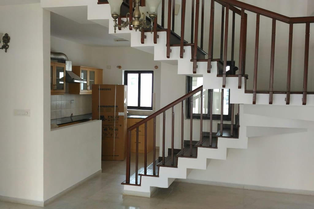 The Duplex stairs, we stay Upstairs