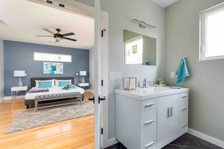 Master bath to master bed