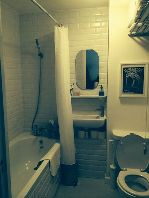 Small but perfectly formed bathroom with great shower and bath