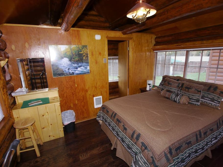 Great for short stays. The room is small so there is no seating area or kitchen.