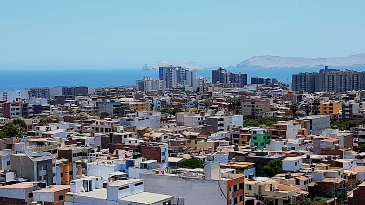Habitación en edificio c/balcón+vista al mar 🤩🌅