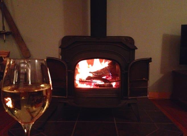 Romantic open fire