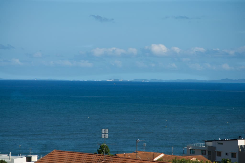 Moreton Island on the horizon
