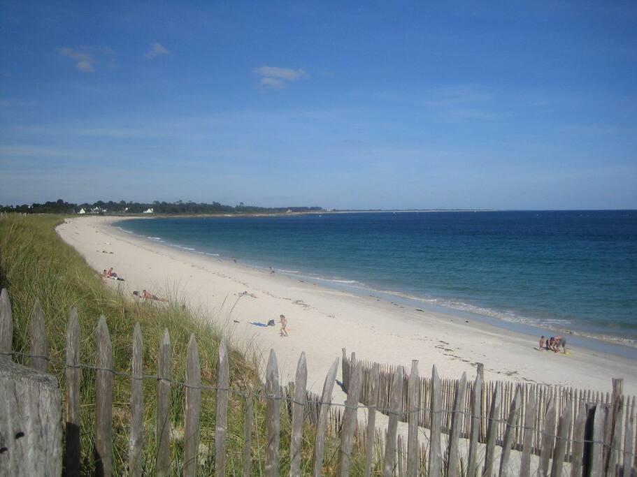 La grande plage de Sainte-Marine, à 15 minutes à pieds