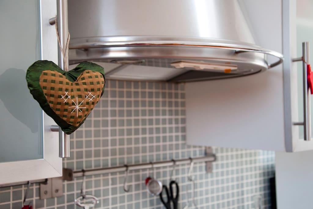 Dettaglio della cucina - Detail of the kitchen
