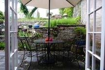 Somewhere to sit outside, Cornish weather permitting!