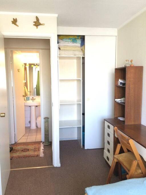 Closet, escritorio con llave
