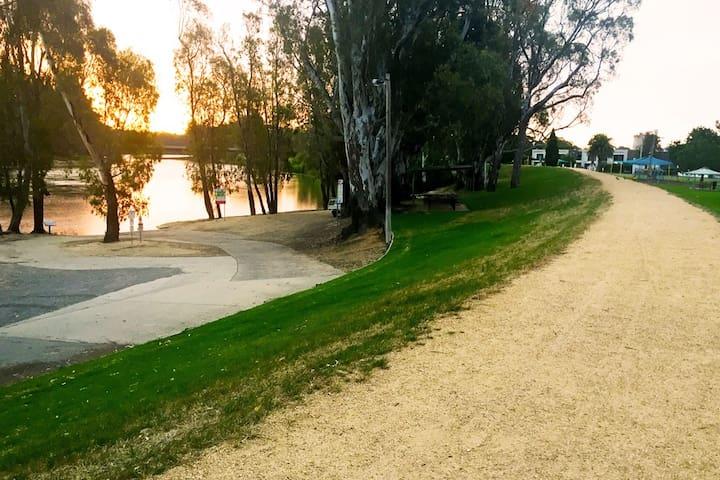 Tocumwal Murray River walking path and boat ramp