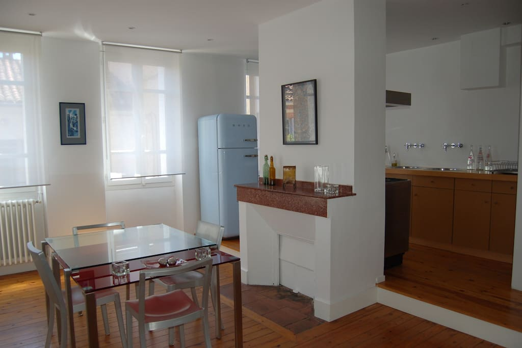 Appartement ancien r nov type loft appartements louer - Appartement a louer meuble toulouse ...