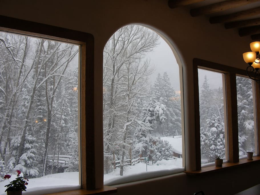 Looking out front window