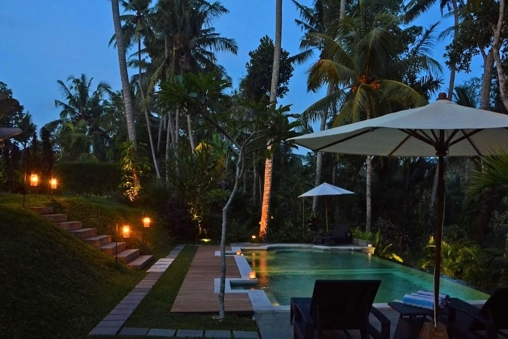 2 bedroom villa, central Ubud, pool