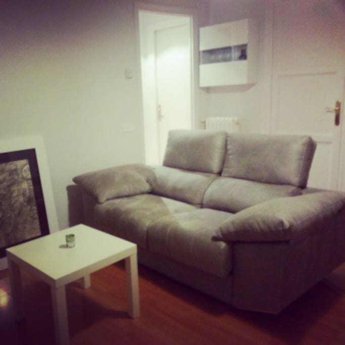 Living room - Super comfy sofa, pulls out and can be used as a single bed!