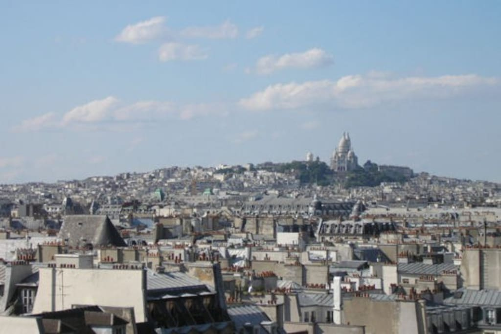 View on Montmartre and ... hundreds of chimneys !