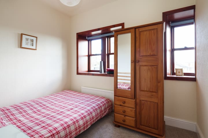 Bedroom 3 - 1st Floor  Double Bed with wardrobe and bedside table
