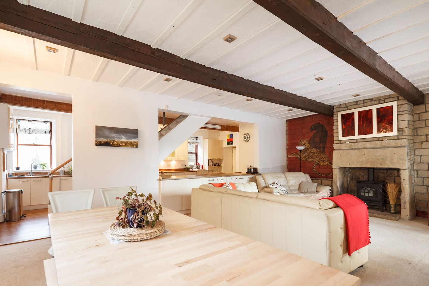 Main attraction of our house for guests to socialise, the open plan downstairs, kitchen, lounge, dining area