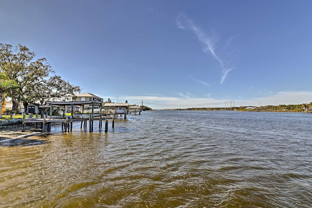 Located on the Alafia River, this home sits just steps from top-notch boating and fishing.