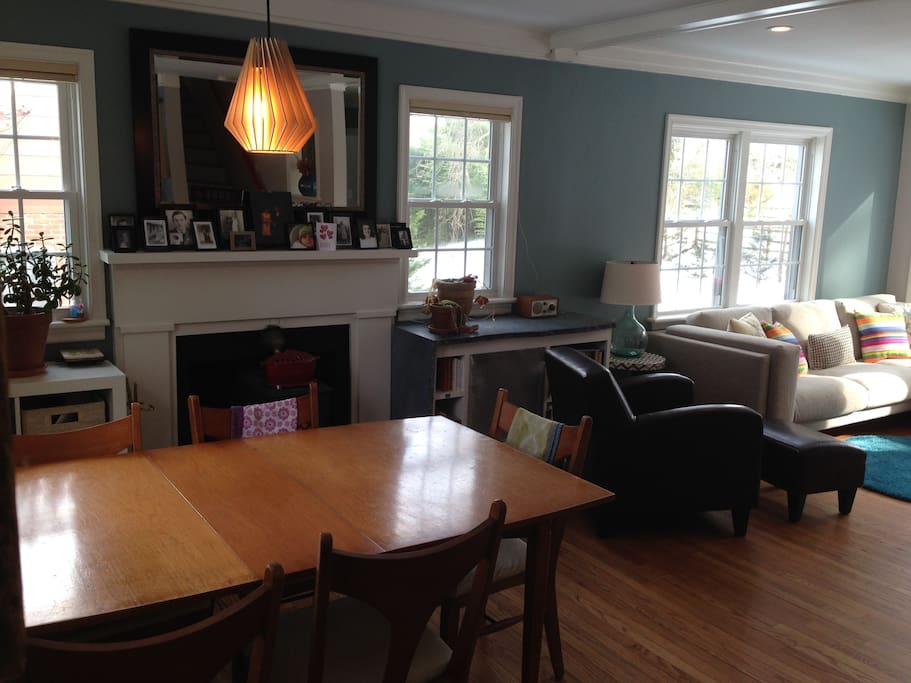 View of the dining room into the living room.